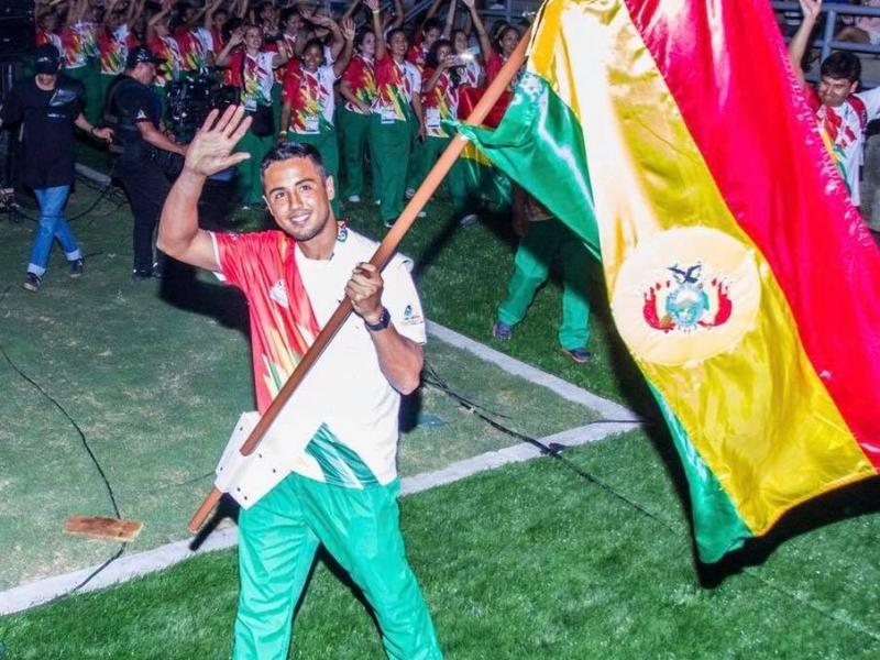HUGO DELLIEN ABANDERADO BOLIVIA SANTA MARTA 2017