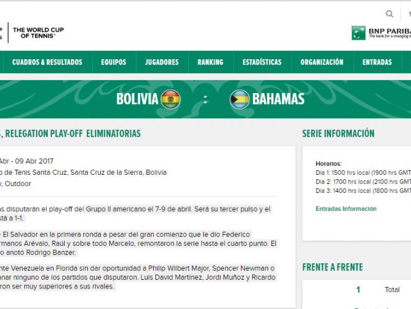 BOLIVIA-BAHAMAS 2017